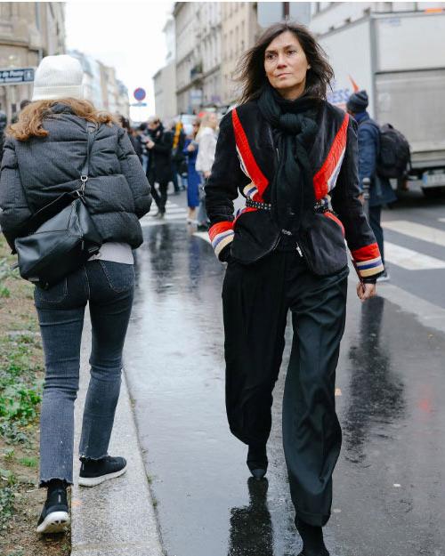 Эмманюэль Альт во время Недели моды в Париже 2018