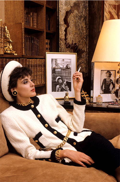 Инес де ля Фрессанж - модель Chanel. 1981 год