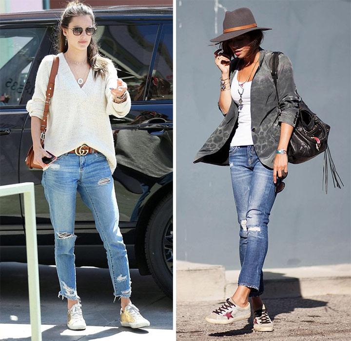 Кеды,рваные джинсы, белая рубашка // майка и пиджак