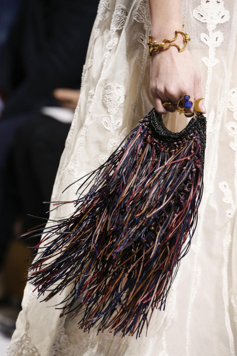 Сумка с разноцветной бахромой Christian Dior