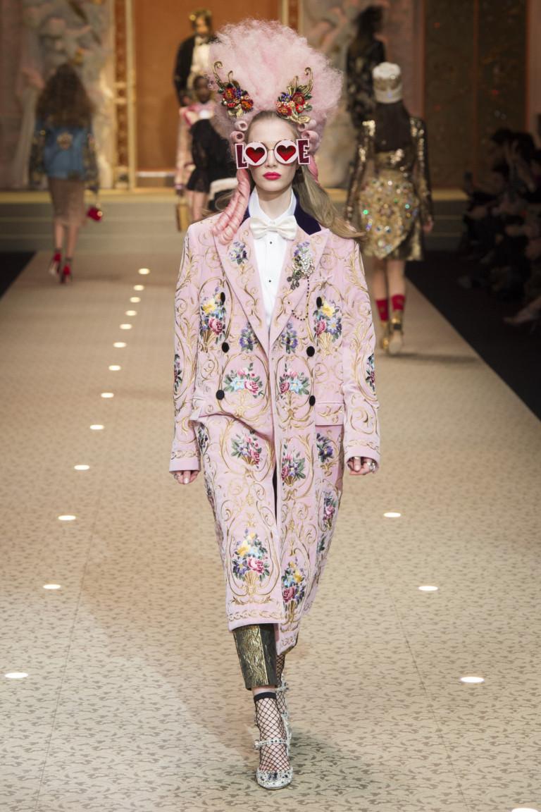 Осенне-зимняя коллекция 2018/2019 Dolce & Gabbana. Неделя моды в Милане