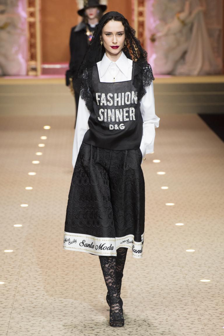 Модель из коллекции осень-зима 2018/2019 Dolce & Gabbana