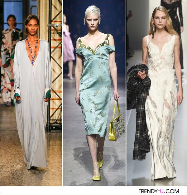Вечерние платья в бельевом стиле от Ermano Scervino Kenzo