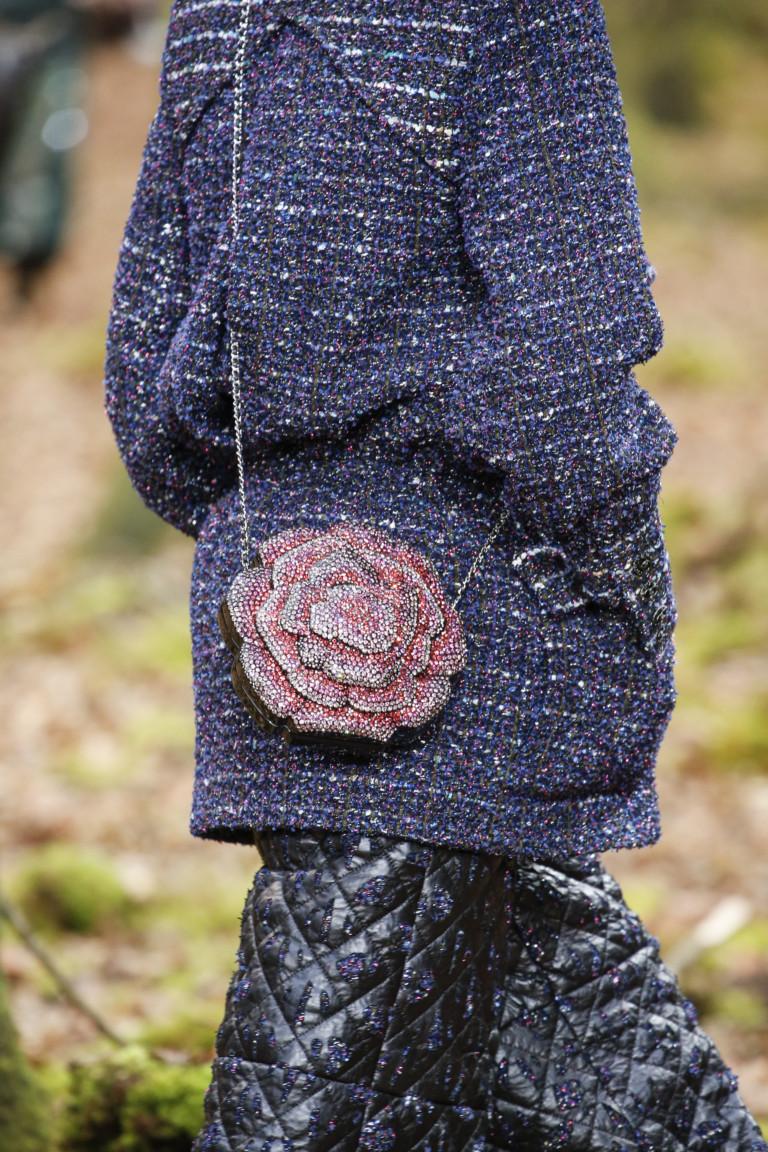 Круглая сумка в виде цветка Chanel. Коллекция осень-зима 2018-2019