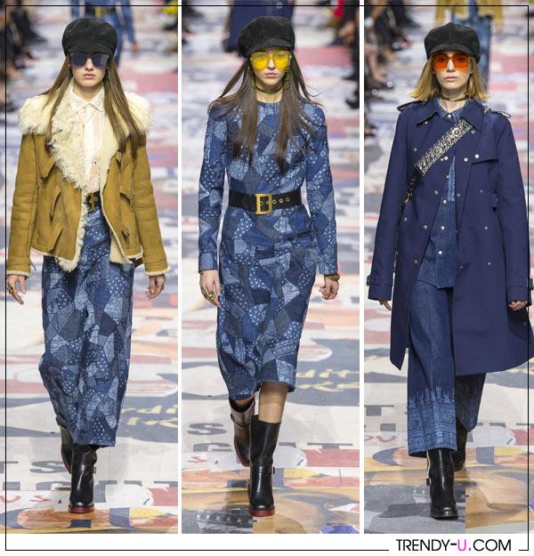 Модная джинсовая одежда от Christian Dior осень-зима 2018-2019