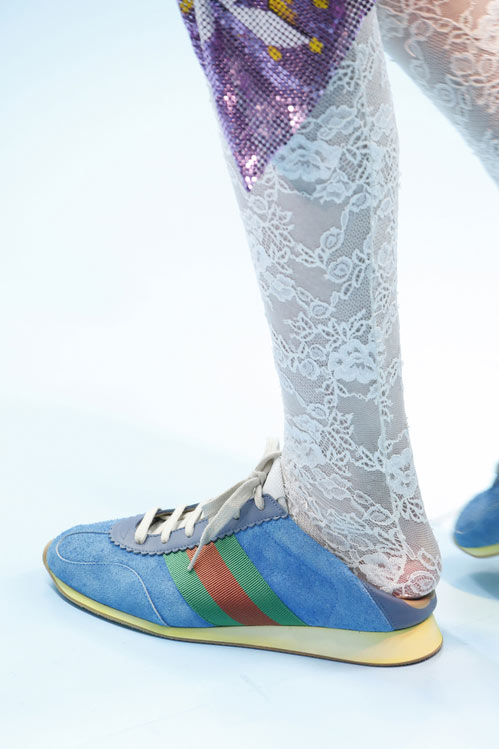 Замшевые кроссовки от Gucci осень-зима 2018-2019