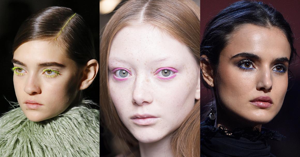 Тенденции макияжа 2018 - яркие глаза и губы