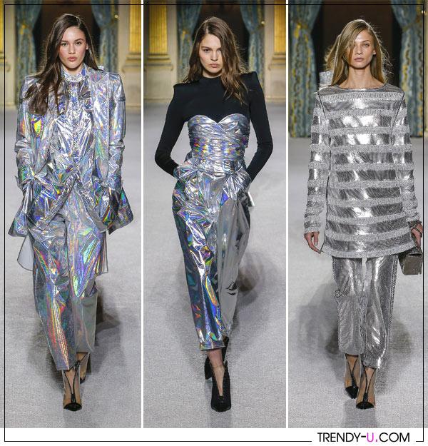 Одежда цвета металлик от Balmain осень-зима 2018-2019