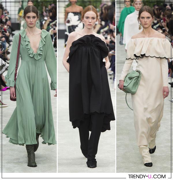 Оборки и рюши на платьях от Valentino