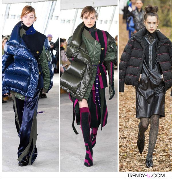 Модные дутые куртки от Sacai Chanel FW 2018-2019