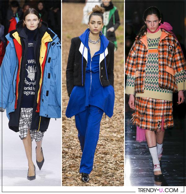 Многослойные образы от Balenciaga, Chanel & Prada осень-зима 2018-2019