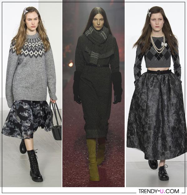 Вязаная одежда от Michael Kors Hermes осень-зима 2018-2019