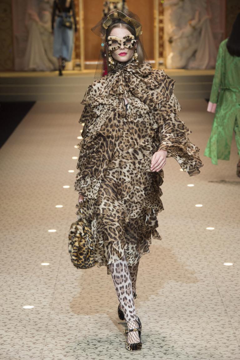 """""""Леопардовое"""" платье из коллекции Dolce&Gabbana"""
