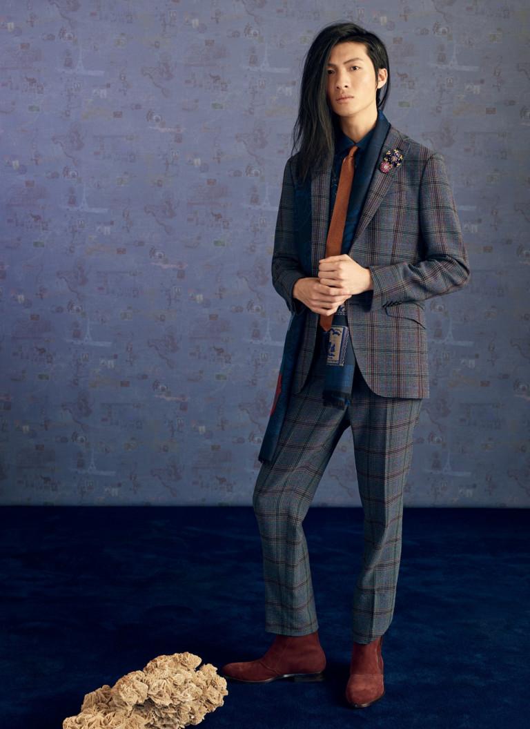 Мужской костюм в крупную клетку из осенне-зимней коллекции Etro