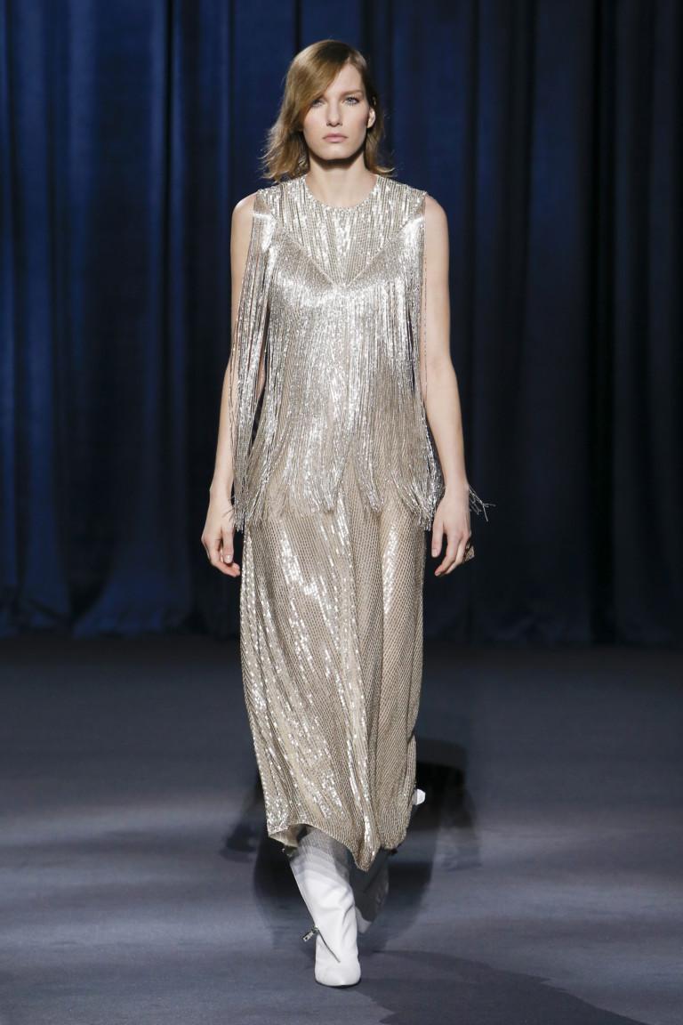 Длинное платье с бахромой Givenchy из коллекции осень-зима 2018-2019