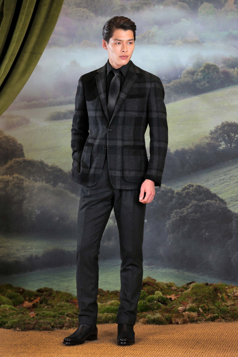 Серый пиджак в крупную клетку из осенне-зимней коллекции Ralph Lauren