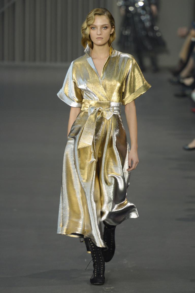 Золотое платье с запахом Temperley London