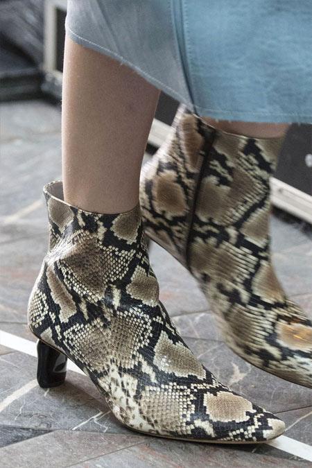 Модные ботильоны с змеиным принтом Rejina Pyo для осени и зимы 2018-2019