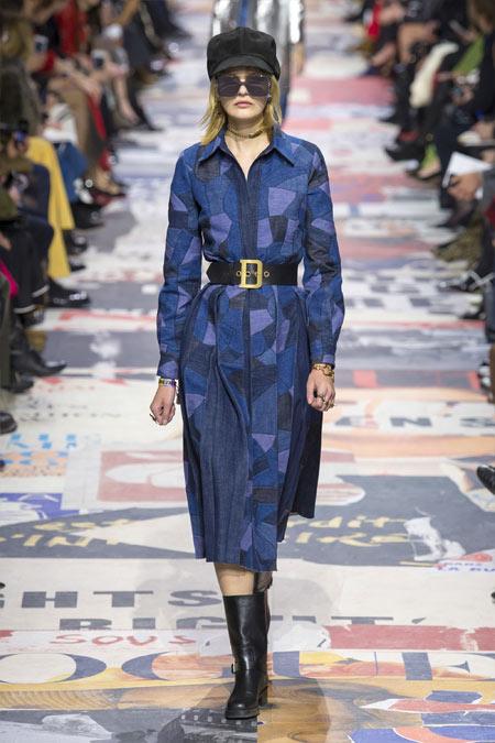 Джинсовое платье Christan Dior осень-зима 2018-2019
