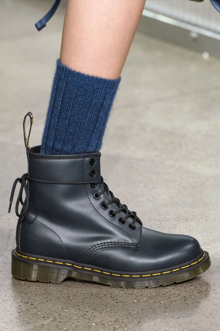 Солдатские ботинки на грубой подошве John Elliot осень-зима 2018
