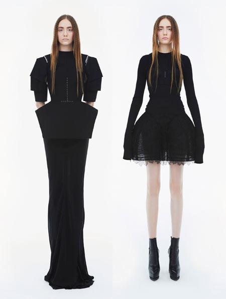 Модные черные платья от Vera Wang осень-зима 2018-2019