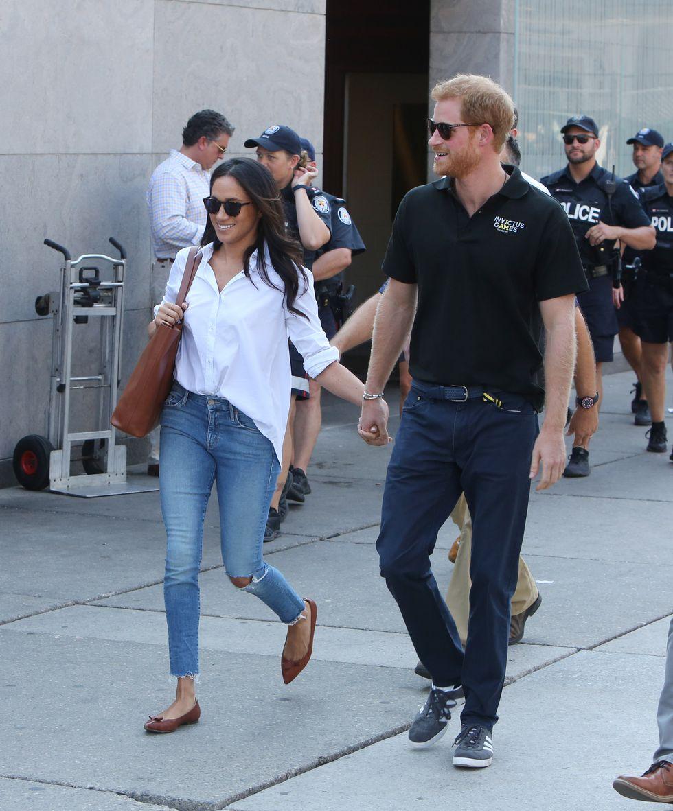 Принц Гарри и Меган Маркл в стиле casual