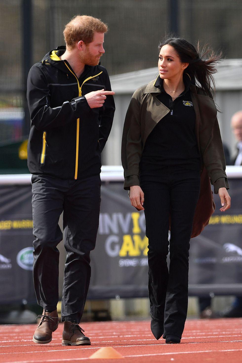 Меган Маркл и принц Гарри на соревнованиях Invictus Games