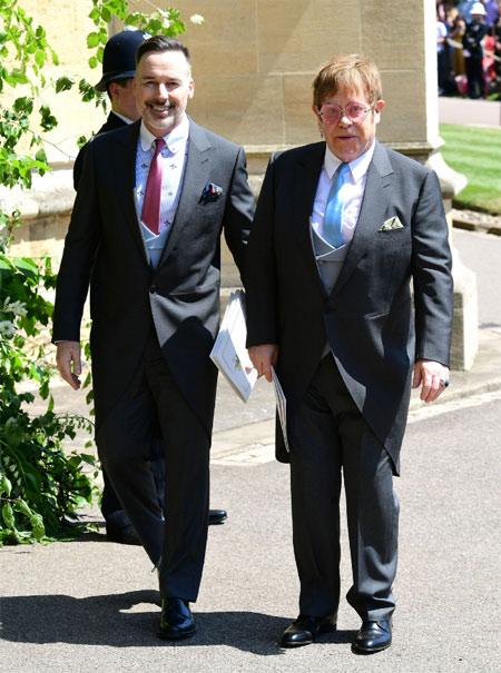 Дэвид Ферниш и Сэр Элтон Джон на королевской свадьбе