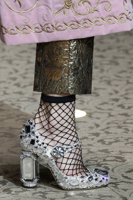 Туфли Мэри Джейн Dolce & Gabbana цвета металлик