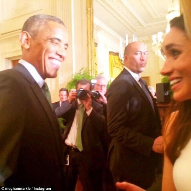 Меган Маркл и Барак Обама