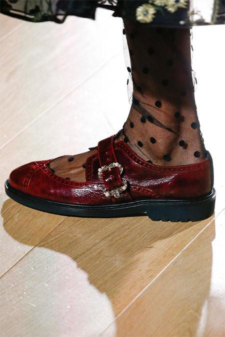 Модные туфли фасона Мэри Джейн Erdem осень-зима 2018-2019