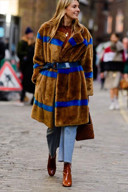 Шуба, джинсы, ботильоны для осени и зимы 2018-2019