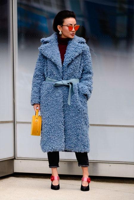Пальто из искусственного меха для осени и зимы 2018-2019