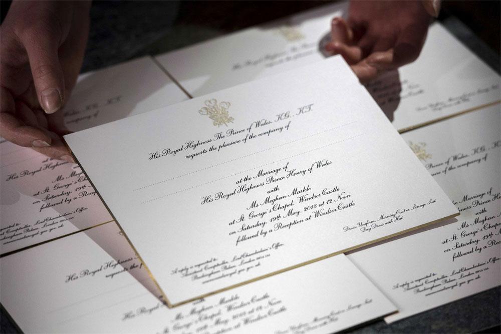 Приглашение на бракосочетание Меган Маркл и Принца Гарри. Victoria Jones/AFP/Getty Images