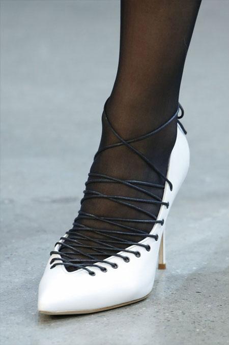 Туфли-лодочки с декоративной шнуровкой Jason Wu осень-зима 2018-2019