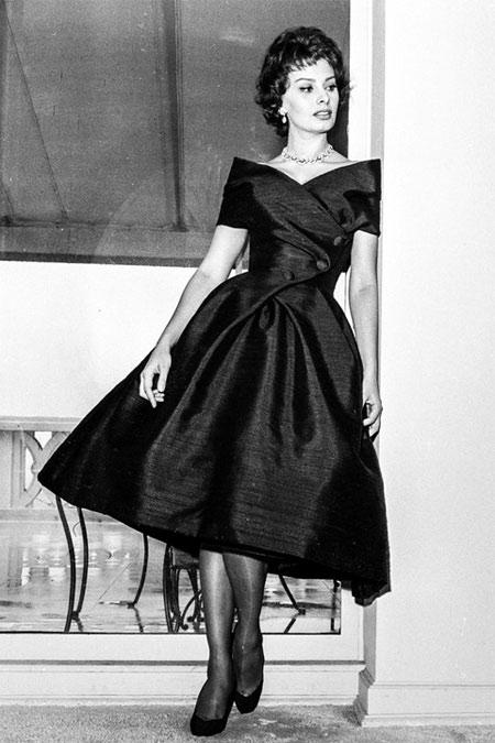 Софи Лорен в платье в стиле New Look