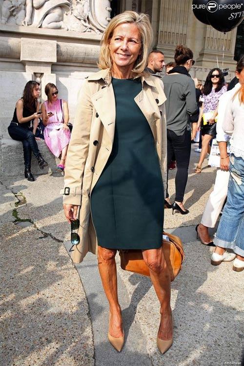 Клэр Шезаль в зеленом платье