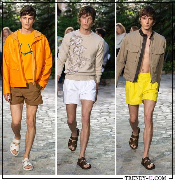 Мужские шорты в коллекции Hermés SS 2019