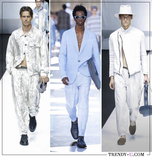 Модные мужские костюмы Ermenegildo Zegna Giorgio Armani весна-лето 2019