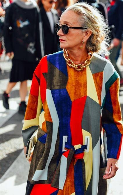 Лусинда Чемберс во время показов в Лондоне