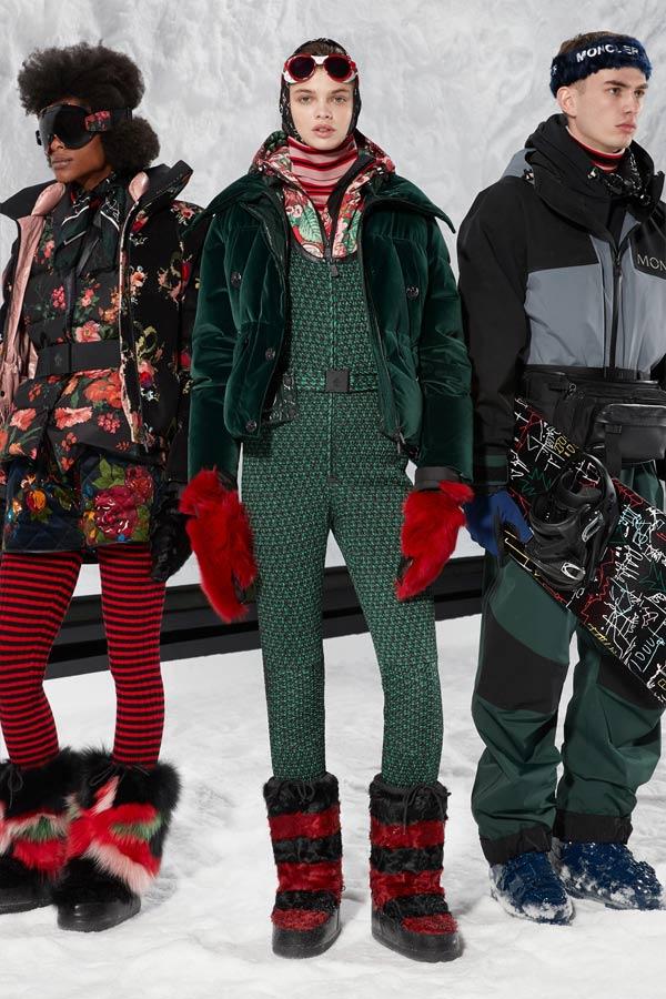 Образы Moncler осень-зима 2018-2019: пуховики и лыжные куртки