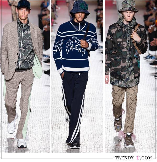 Шляпы и кепки в коллекции Versace весна-лето 2019