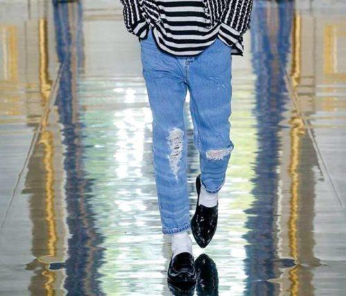 Черные туфли с джинсами