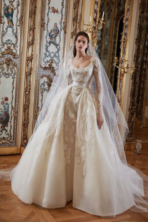 Пышное свадебное платье - тренд свадебной моды 2019