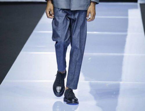 Замшевые туфли с кожаным носком