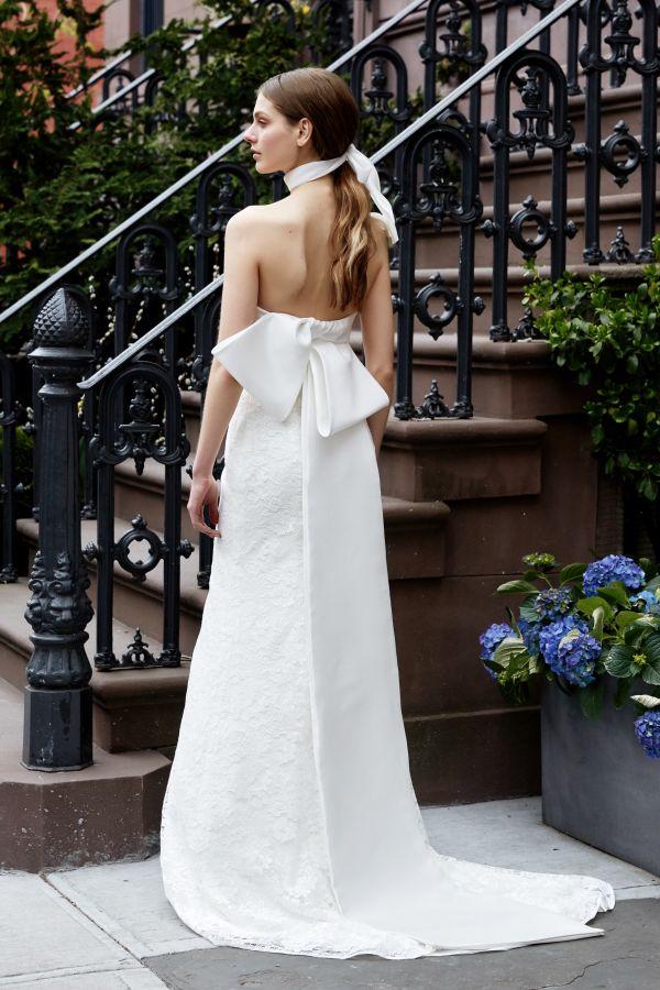 Свадебное платье с бантом на спине. Коллекция весна 2019 Lela Rose
