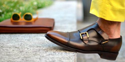 Мужские монки коричневого цвета