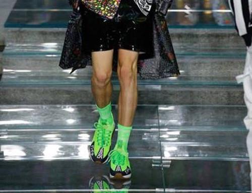 Неоновые салатовые кроссовки Versace SS 2019