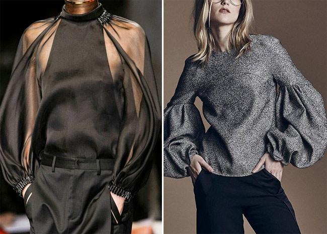 Стильная и модная блузка для празднования Нового года
