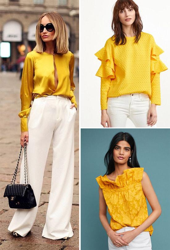 Желтая блузка в год Желтой свиньи и просто так